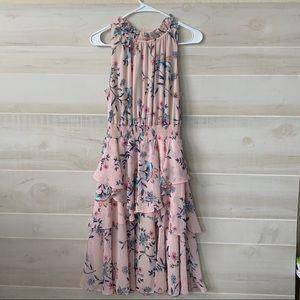 Eliza J Floral Ruffle A-Line Dress - Size 12